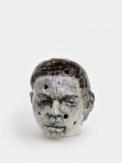 Perforated head III, 2020 h.54 cm, Keramiek