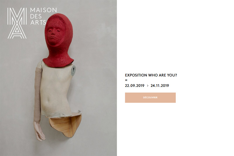 Maison des Arts 'Who Are You' main Florin