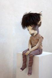 Dotty 2013, h.95 cm, Polyester, epoxy, hair, textile.