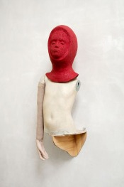 On the Wall XI 2016, h.96,5 cm, Rubber, polyester, textiel, hout