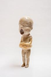 Scream 2008, h.83 cm, Rubber, polyester, textiel, tape.
