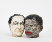 Commedia 2018, h.31 cm / 31,5 cm, Ceramics.